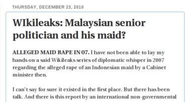 How Rocky raped WikiLeaks to screw Rais