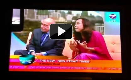 NTV7 almost got it right for the new Newstraightime. The old baldy is Mucho Gracias