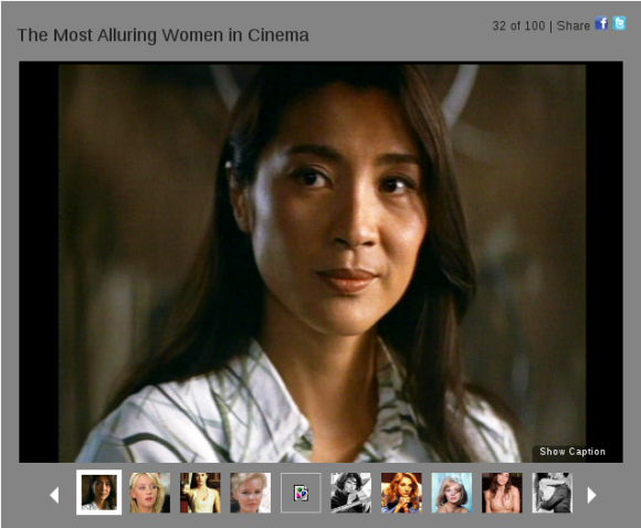 Michelle Yeoh listed as one of top 100 most alluring women in film