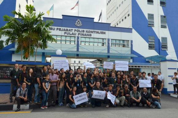 journo demo in penang