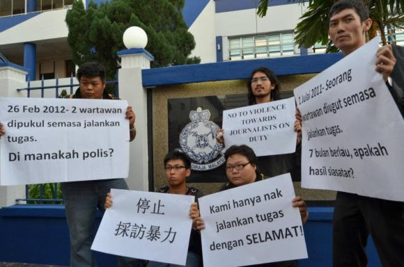 demonstration by penang journalists
