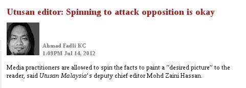 Utusan editor says it's okay to lie?