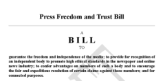 Press freedom and trust bill draft