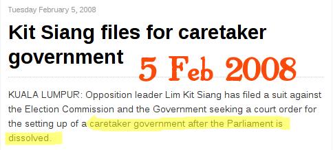Kit Siang's bullshit: what he did in 2008