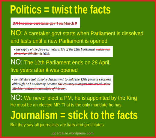 Politicians - twisting facts
