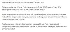 IGP says Bernama misquoted him