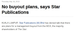 No buyout plans say owners of the Star