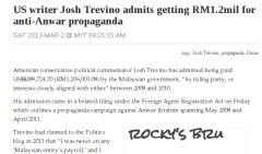 Paid for: millions given to US propaganda writer by Malaysian government