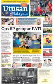 Utusan Malaysia front page