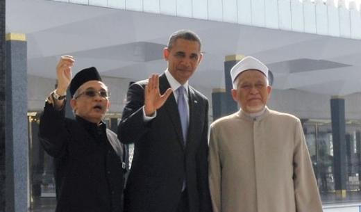President Obama at Masjid Negara [Kwong Wah photo]
