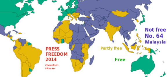 Still among those 'Not Free'. [Freedom House report 2014]