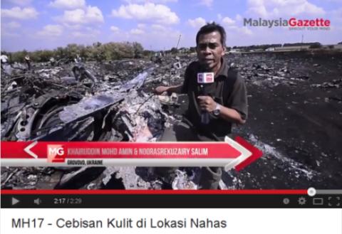 Sticking it to MH17: Malaysia Gazette's Khairuddin Mohd Amin