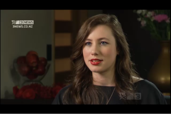 Tania Billingsley, 21, interviewed on NZ television