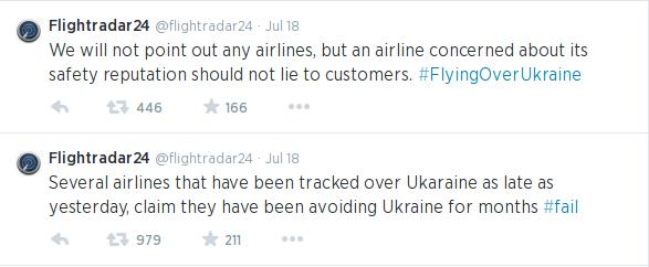 Flightradar24's tart reminder to airlines