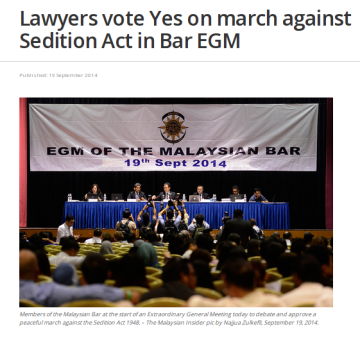 Lawyers to march against Sedition Act