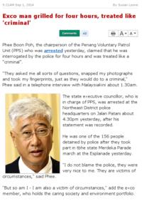 Malaysiakini interviews exco man