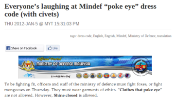 "Remember when Mindef did a ""poke-eye"" job?"