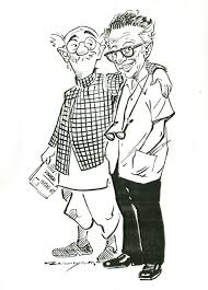 R K Laxman and his alter ego the Common Man