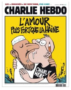 """""""Love is greater than hate"""" - Charlie Hebdo"""