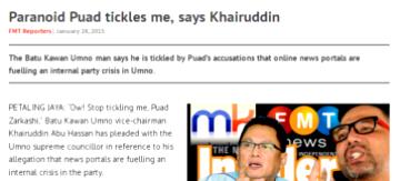 """""""Paranoid Puad"""" mocked"""