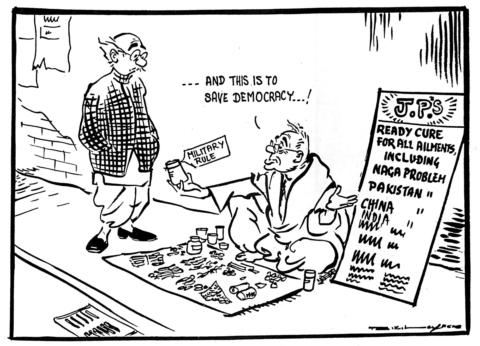 R K Laxman on democracy