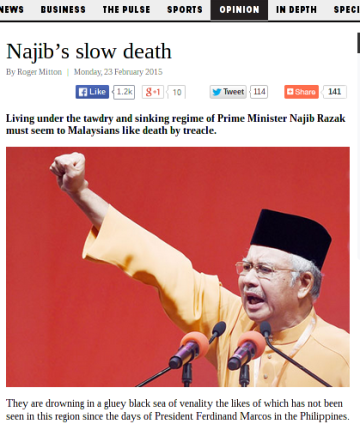 Malaysians living a slow death under Najib, says columnist