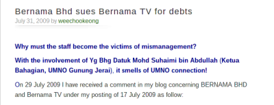 Problems dating back to 2009, highlighted by Wee Choo Keong, then MP for Wangsa Maju