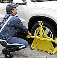 File photo: Action against illegal parking