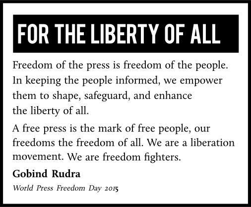 Freedom of the press, freedom of the people