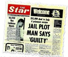 The first front page of The Star on Sept 9, 1971