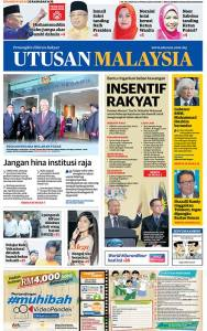 Utusan Malaytsia front page June 7
