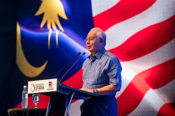 Najib Razak launching the 1Malaysia Negaraku campaign in August 2017